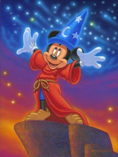 Sorcerer's Night: By Manuel Hernandez, Disney Fine Art