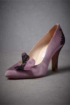 purps AND bflies?? // Purple Emperor Heels from BHLDN