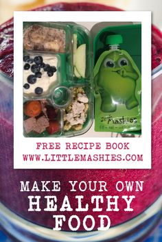 Healthy lunchbox and kids snack ideas from http://www.littlemashies.com #babyfood #storage #kids #healthy #snacks
