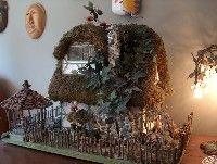 Fairy House - Love the gazebo with pinecone 'shingles'!!