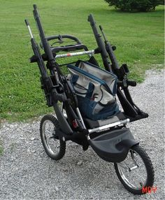 Tactical Baby Stroller for the Zombie Apocalypse... the sad thing is, that this is real, and there are other examples of configurations on the blog!
