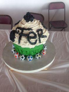 Cupcake gigante balón de Fútbol
