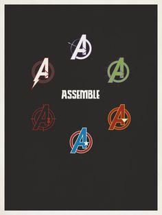The Avengers minimalist poster by graphic designer Matt Owen.