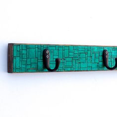 Emerald Green Coat Rack Handmade Paper Patchwork Geometric Mosaic Recycled Wood on Etsy, $126.37 AUD
