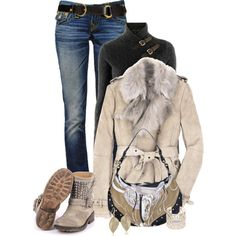 Untitled #938, created by johnna-cameron on Polyvore#i NEED those boots NOW!