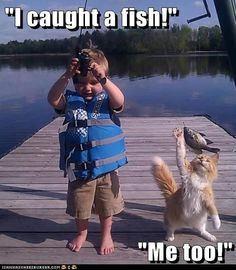 """I caught a fish!"""