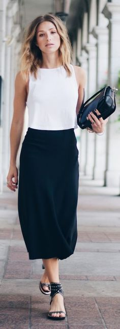 The August Diaries Black And White Easy Chic Outfit