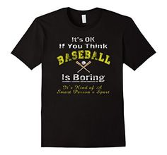 Men's Baseball Is Boring Funny Baseball Shirt 3XL Black F...