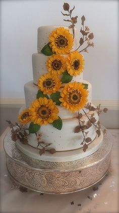 sunflower wedding cake | Little Cakes Sunflower Wedding Cake | Flickr - Photo Sharing!