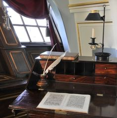 Nelson's Desk on HMS Victory Art Print