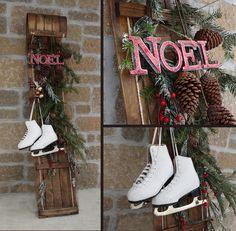 christmas toboggan decoration ideas - Google Search