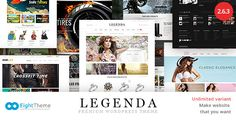 Legenda WordPress Theme Free Download – Responsive Multi-Purpose  LEGENDA – is super flexible theme, which has fully responsive design for any device. Is…