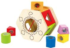 Hape - Shake and Match Wooden Shape Sorter ** Click here for more details @