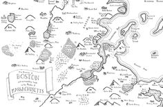 Real cities drawn as fantasy maps