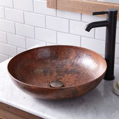 Maestro Sonata Copper Bathroom Vessel Sink | Native Trails