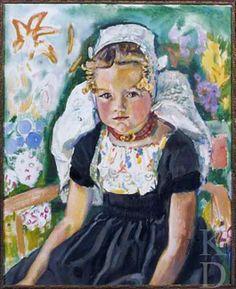 Jan Sluijters Zeeuws meisje, ca. 1938 Christie's (Amsterdam), 27 #Zeeland #Walcheren