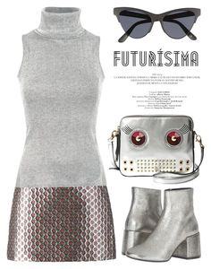 """""""Futuristic Vibes 2110"""" by boxthoughts ❤ liked on Polyvore featuring MM6 Maison Margiela, Miu Miu, Pilot, Le Specs and FOSSIL"""