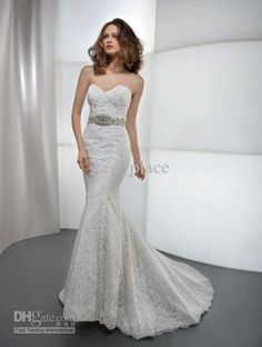 Wholesale Wedding Dresses - Buy Bling Bling Sweetheart Mermaid Wedding Dresses Lace Bridal Gowns Crystal Sleeveless Dress High Collar Weddin...