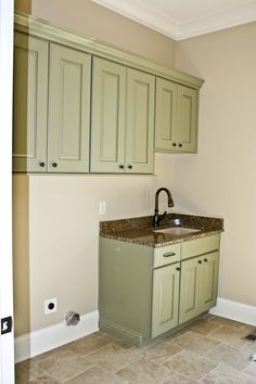 Koch Cabinets With Olive Finish