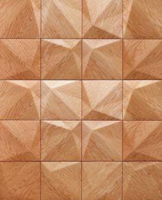 Panel de pared 3D de madera MATRA by MOKO diseño Zsolt Karajz