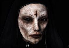 Evil nun makeup