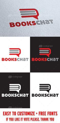 Books Chat Logo Template - http://www.codegrape.com/item/books-chat-logo-template/8133