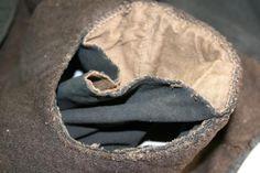 detail wambuis: inzet van de mouwen