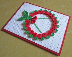 Christmas Card Paper Quilling Embossed Card por DreamsByTheRiver
