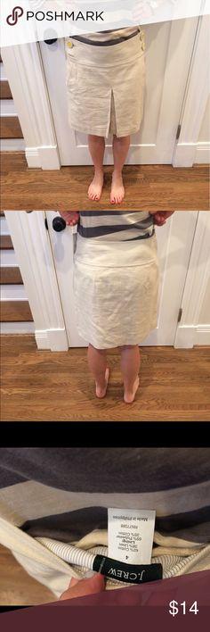 NWT JCrew Linen Skirt Super cute cream Linen skirt! J. Crew Skirts Mini