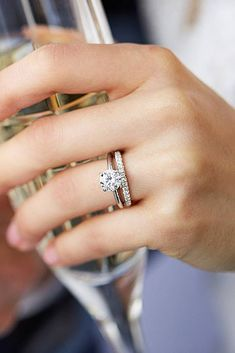 18 Blue Nile Engagement Rings That Inspire You ❤️ blue nile engagement rings white gold diamond round cut solitaire simple wedding set ❤️ See more: http://www.weddingforward.com/blue-nile-engagement-rings/ #wedding #bride #engagementrings #bluenileengagementrings
