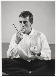 "Peter Hujar, ""David Wojnarowicz Eating an Apple"""
