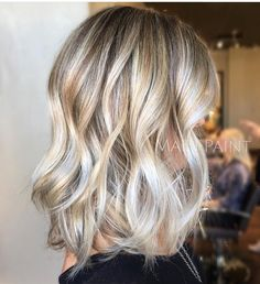 Gorgeous Mixed Blonde Ash Silver toned Highlights Mixed with Natural Mid Tones All Against a Darker Neutral Base Blonde - Ash - Silver - Babylights - Highlights - Lowlights - Balayage ... All seamlessly layered for a beachy natural look.