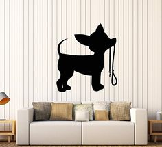 Vinyl Wall Decal Silhouette Puppy Little Dog Leash Chihua... https://www.amazon.com/dp/B077NN34WM/ref=cm_sw_r_pi_dp_x_.d0fAbRP98PEA