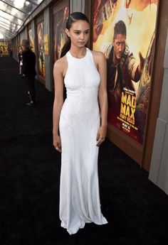 """Courtney Eaton Photos - Actress Courtney Eaton attends the premiere of Warner Bros. Pictures' """"Mad Max: Fury Road"""" at TCL Chinese Theatre on May 2015 in Hollywood, California. - Premiere Of Warner Bros. Courtney Eaton, Beautiful Celebrities, Beautiful Actresses, Beautiful Women, Portraits, Australian Models, Red Carpet, Celebrity Style, White Dress"""