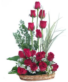 Rosa  (LOVERS PARADISE )  Standing Arrangement of 20 Hand Picked Red Roses for someone you Love.