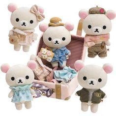 Rilakkuma Plushie, Kawaii Cute, Kawaii Stuff, Cute Stuffed Animals, Kawaii Stationery, Cute Plush, Sanrio Hello Kitty, Diy Doll, Plush Dolls