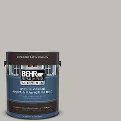 BEHR Premium Plus Ultra 1-gal. #N370-3 Light Year Satin Enamel Exterior Paint