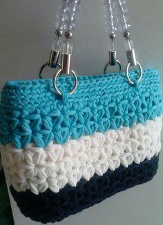 . Diy Crochet Bag, Crotchet Bags, Crochet Clutch, Crochet Fabric, Fabric Yarn, Crochet Shoes, Crochet Handbags, Crochet Purses, Knitted Bags