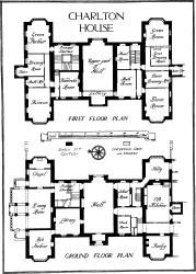 Charlton House, First Floor Plan And Ground Floor Plan. Country ...
