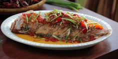 Deep Fried Whole Fish with 3-flavoured Sauce