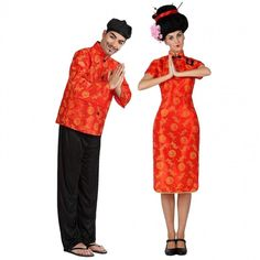Déguisements Chinois Rouges et Jaunes #déguisementscouples #nouveauté2016