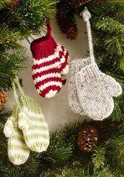 knit mitten ornaments