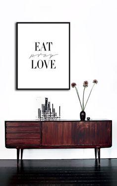 Eat Pray Love Poster PRINTABLE FILE 6 sizes/ same by Dantell