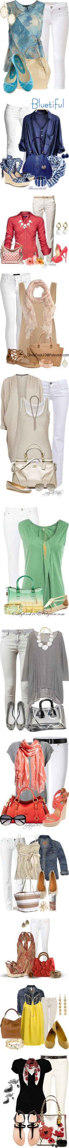 """Let's Wear White"" by esha2001 on Polyvore 