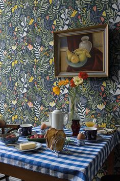 Accent Wallpaper, I Wallpaper, Pattern Wallpaper, Stig Lindberg, Scandinavian Home, House Design, Interior, Painting, Home Decor