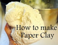 Paper Clay Recipe...  http://dahlhartlane.blogspot.com/2011/10/how-to-make-paper-clay.html