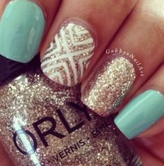 Gold and Tiffany Blue