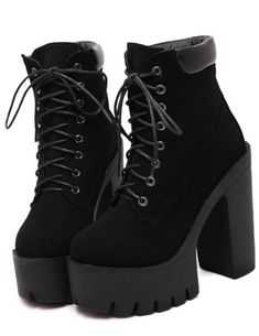 Fit: USA female shoe sizePlatform Height: Height: Super High Material: RubberOutsole Material: RubberLeather Style: Soft LeatherShips from: Mainland, ChinaEstimated delivery: 2 - 4 weeks Guaranteed safe and secured checkout via: Lace Up Heel Boots, Short Heel Boots, Black Lace Up Boots, Black Platform Boots, Black Heel Boots, High Heel Boots, Heeled Boots, Platform Shoes, Black Suede