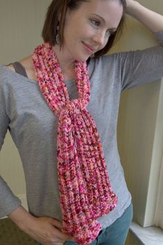 Speckle Flared Scarf Free Knitting Pattern