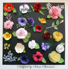 Selma's Stamping Corner: Build A Flower #2